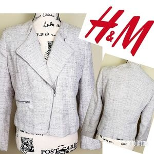 H&M blazer in a grey color with silver details